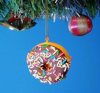 Ornament Home Party Christmas Tree Decor Toy Cartoon Food Donut F1