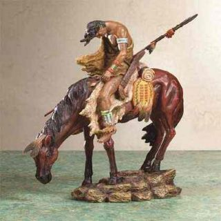 End of The Trail Indian Horse Sculpture Statue Figurine