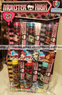 Lip Balm Monster High Party Pack Gift Set Lot Individual Cards