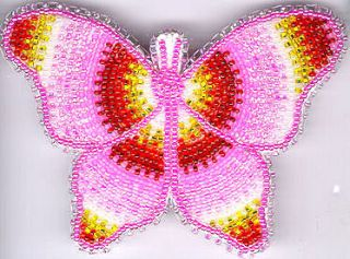 Butterfly Hair Barrette 37 Native American Bead Jewelry