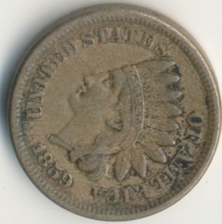 1859 INDIAN HEAD PENNY   FULL LIBERTY   ** NICE CIRCULATED COIN **