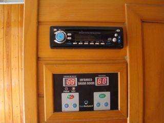 Keys Backyard Two Person Infrared Indoor Sauna w Sound System