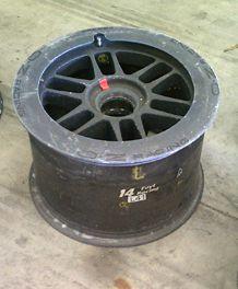 AJ Foyt Racing Race Used IndyCar Front Wheel oz Wide Rim 15 Wheel