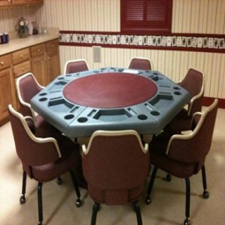 Sided Poker Table Indoor Outdoor Game Table Domino