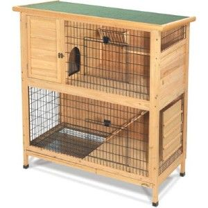 Trixie Rabbit Hutch With Peaked Roof Medium Rabbit Cages