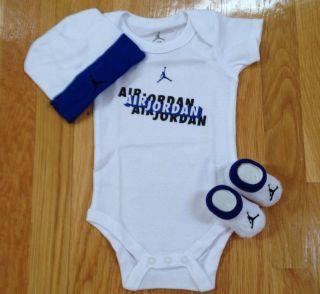 Nike Air Jordan Newborn Baby Boy Infan 3 Piece Gif Se 0 6M New