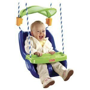 Infant to Toddler Swing with Sunshield Baby Fisher Price High Quality