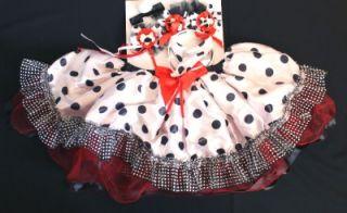 Dalmation Tutu Child Costume 6pc Puppy Dog Girl Kit Kids Dress Up