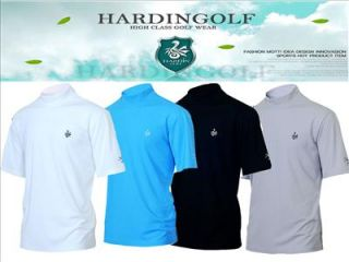 New Men Golf Shirts Apparel clothes Pullover Mock Neck Thermal cooling
