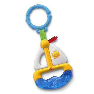 New Fisher Price Soft Sailboat Teether Baby Infant Toys