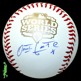 Omar Infante Signed Auto 2012 WS World Series Baseball Ball Tigers COA