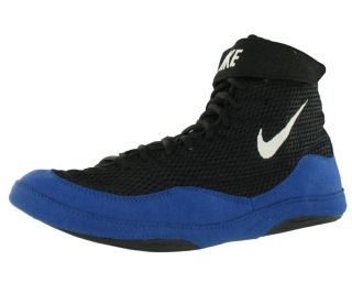 Nike Inflict Mens Wrestling Shoes Black White Blue Size