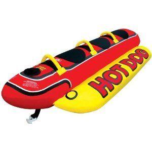 Kwik Tek 2012 Hot Dog Inflatable Towable 3 Man Water Tube