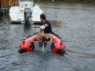 Saturn Inflatable Boat with slatted floor SS260. Click on image to