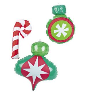 12 Inflatable Christmas Ornaments Decorations Favors Candy Cane