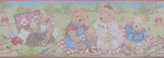 Border Country Picnic Basket Childrens Room Kids Cute Fun