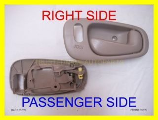 Inner Inside Interior Door Handle Beige Tan with Power Lock Hole Right