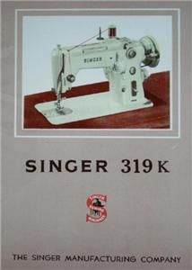 Singer 319K Treadle Sewing Machine Instruction Manual On CD