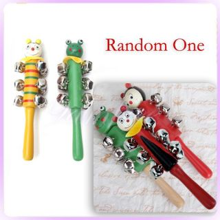 Wooden Handled Jingle Bell Shakers Musical Instrument