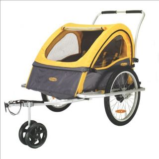 Instep Rocket Bicycle Trailer Double Yellow Gray 12 MK553