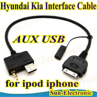 Interface Cable for Apples iPod for Hyundai/Kia