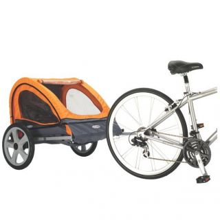 Instep Quick N EZ Bicycle Trailer Double Orange Gray 12 QE212