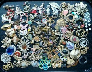 brooch lot 100 gold silver tone lapel pin figurative flower fun mix hh