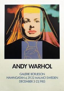 RARE Sweden Edition Warhol Ingrid Bergman as Nun