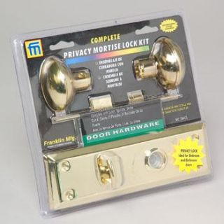 Privacy Interior Mortise Lock Kit Door Knob Set Brass 044CS New