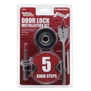 Kwikset 130WD Wood Door Lock Installation Kit