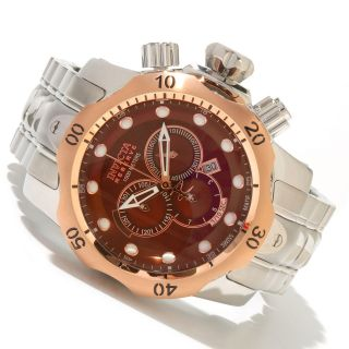 New Invicta 10787 Reserve Venom 18K Rose Gold Plated Bezel Brown Dial