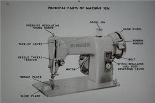 Singer 185K Sewing Machine Instruction Manual on CD