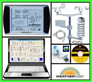 Wireless Weather Station Day Forecaster w Atomic Clock