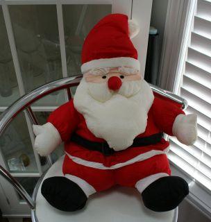 International Silver Stuffed Nylon Plush Santa Doll