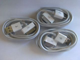 3X 6 Pin USB Power Cable Charger Charge Cord iPad 1 2 3 iPod iPhone