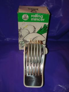 Rowoco Rolling Slicer Mincer Cutter Inox 18C Stainless Steel Blades