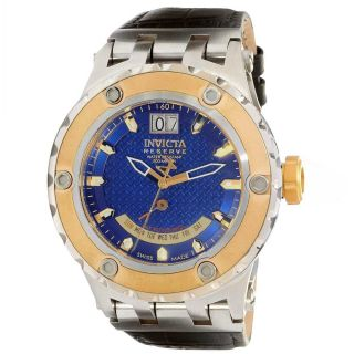 Invicta 10094 Mens Reserve Specialty Subaqua TT Gold Plated Blue Dial
