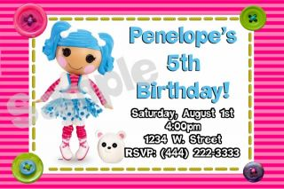 Lalaloopsy Personalized Custom Birthday Party Invitations