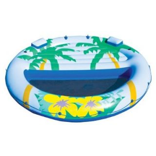 Intex Island Oasis Inflatable Floating Pool Lounge Quick Fill Air Pump