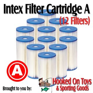 12 Pack Intex Replacement Pool Filter Cartridge Type A
