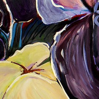 Huge Art Modern Oil Painting Floral Mukerji Iris Garden