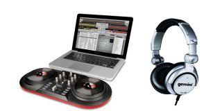 ION AUDIO iCUE3 DISCOVER DJ USB Turntable Computer System + GEMINI