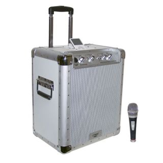 New 2011 Pyle Portable 400W PA Speaker System iPod Dock