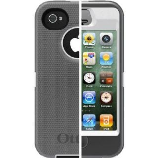 iPhone 4 4S Otterbox Defender Case Grey White at T Sprint Verizon