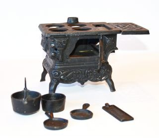 Cast Iron Antique Miniature Stove Pots