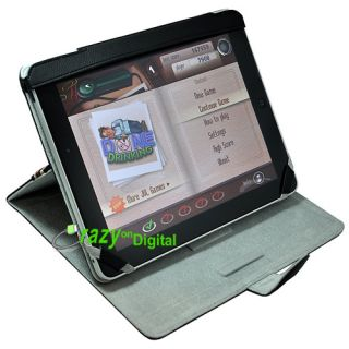 Black Stand Leather Case for Apple iPad Tablet eBook 3G