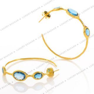IPPOLITA Rock Candy London Blue Topaz Hoop Earrings