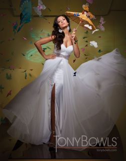 Le Gala by Tony Bowls 111525 White 8 National Pageant Dress