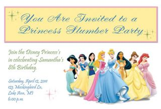 Printable Birthday Invitations Disney Princess FREEBIE