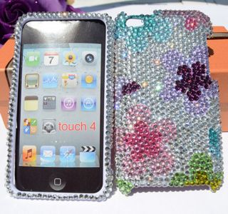 for Apple iPod Touch 4 4th Gen Czech Crystal Bling Case Cover